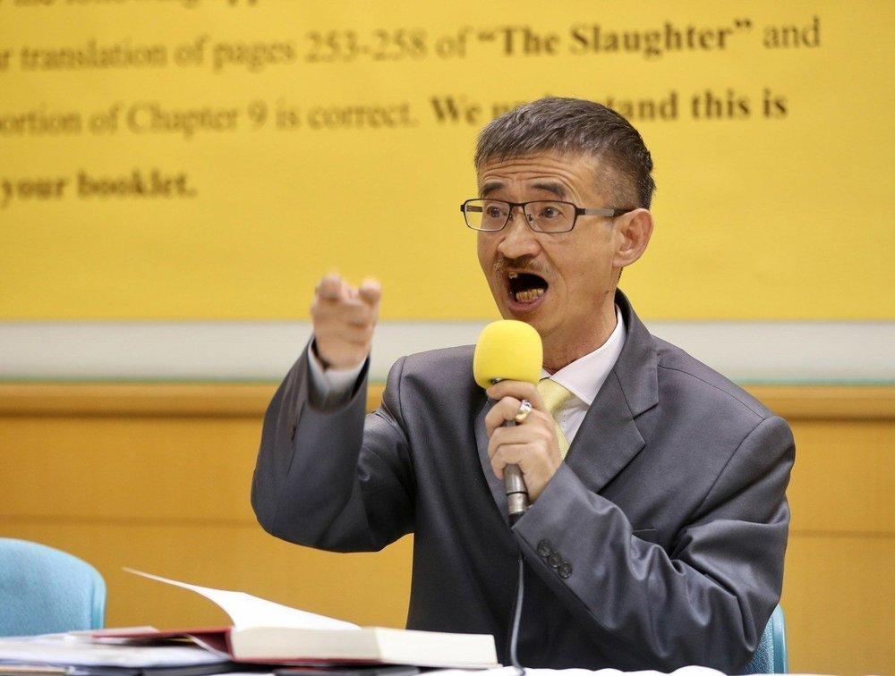 知名作家吳祥輝擬對「只要柯文哲超過15萬票,吳祥輝一輩子閉嘴」影片剪接者提告。圖片來源:中央通訊社