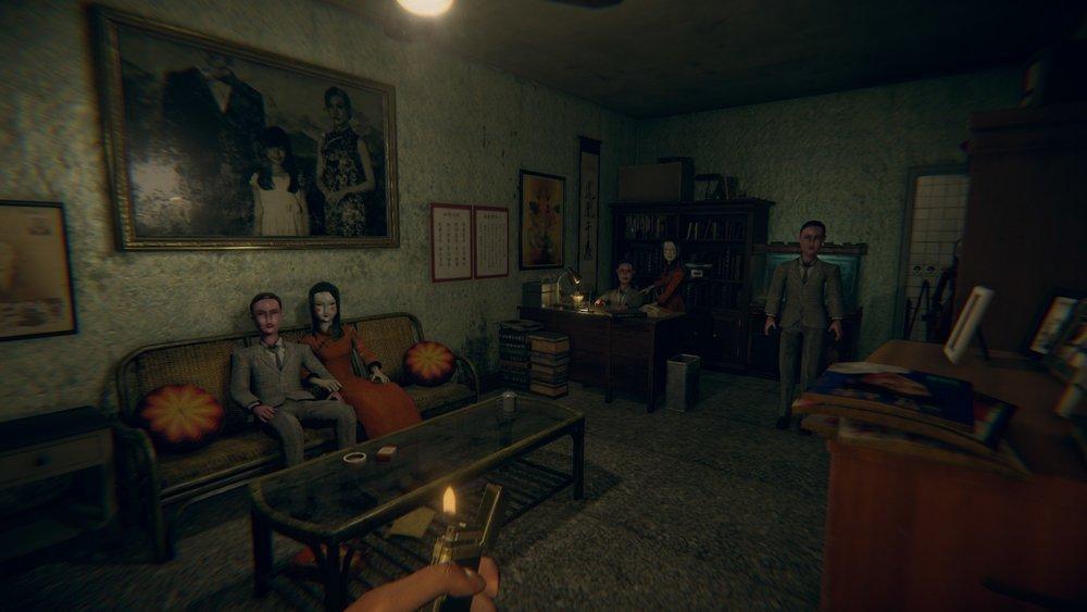 《還願》遊戲內的場景,完全模擬台灣許多公寓內的擺設和布置。圖片來源:Steam