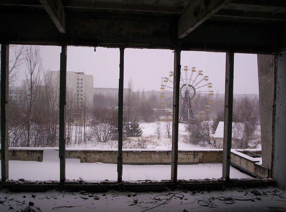 鄰近車諾比核災現場的普里皮亞季。圖片來源:維基共享資源