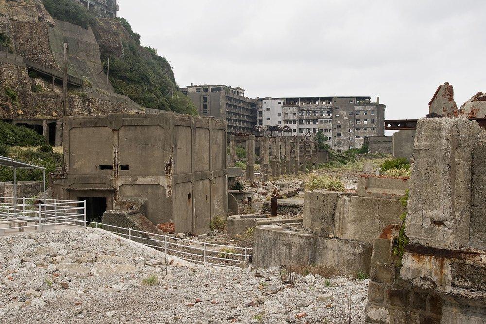 端島。圖片來源:維基共享資源
