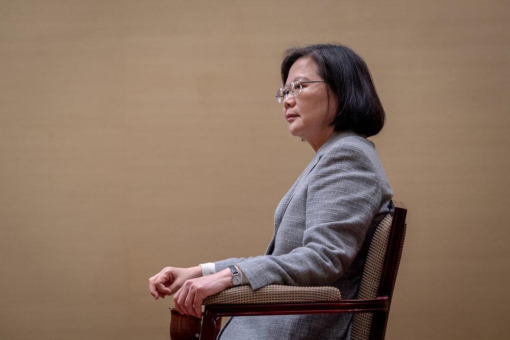 彭明敏認為,總統蔡英文的權威基礎正一個個瓦解。攝:Makoto Lin/中華民國總統府