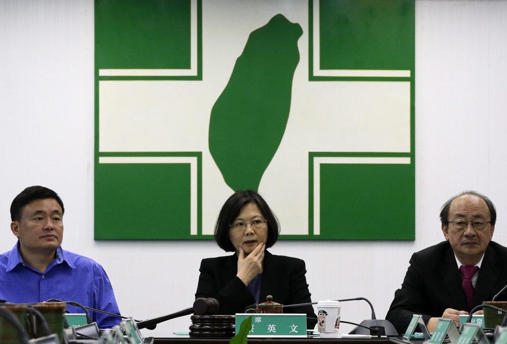 民進黨多數立委仍拒絕將修改《公投法》,讓國號、領土可以變更。圖片來源:European Pressphoto Agency