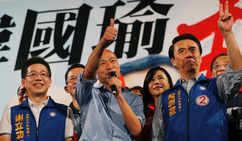 筆者認為,韓國瑜是典型華而不實的政客。圖片來源:Reuters
