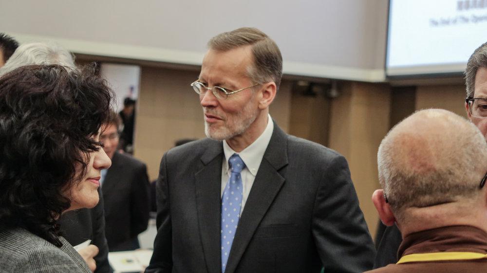 美國在台協會台北辦事處長酈英傑盛讚台灣的宗教自由。攝:周子愉/讀報