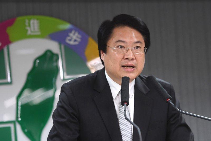 基隆市長林右昌赴美表示,「台灣的民進黨蛻變成華人的民進黨」。圖片來源:中央通訊社