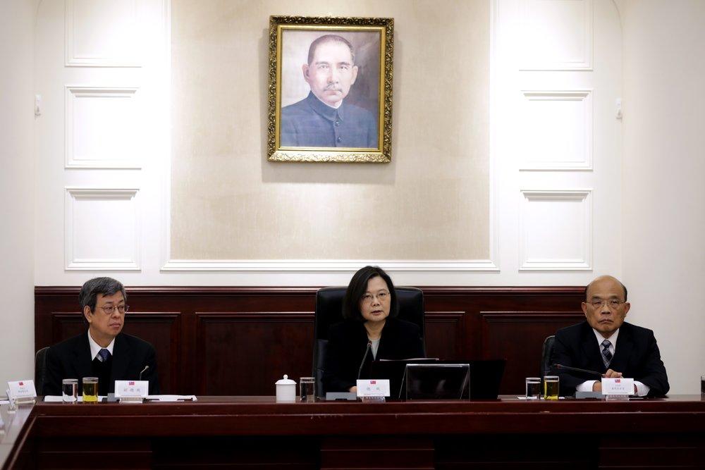 總統蔡英文召開國家安全會議,確立中國「一國兩制台灣方案」因應方針與機制。圖片來源:中華民國總統府/Flickr