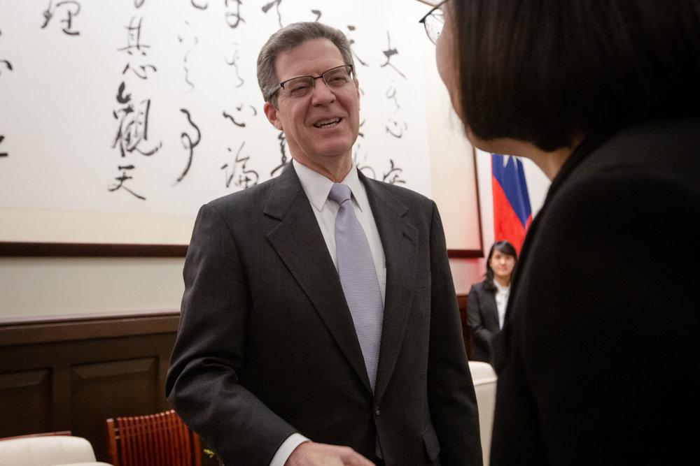 美國布朗巴克大使與總統蔡英文見面。圖片來源:中華民國總統府/Flickr