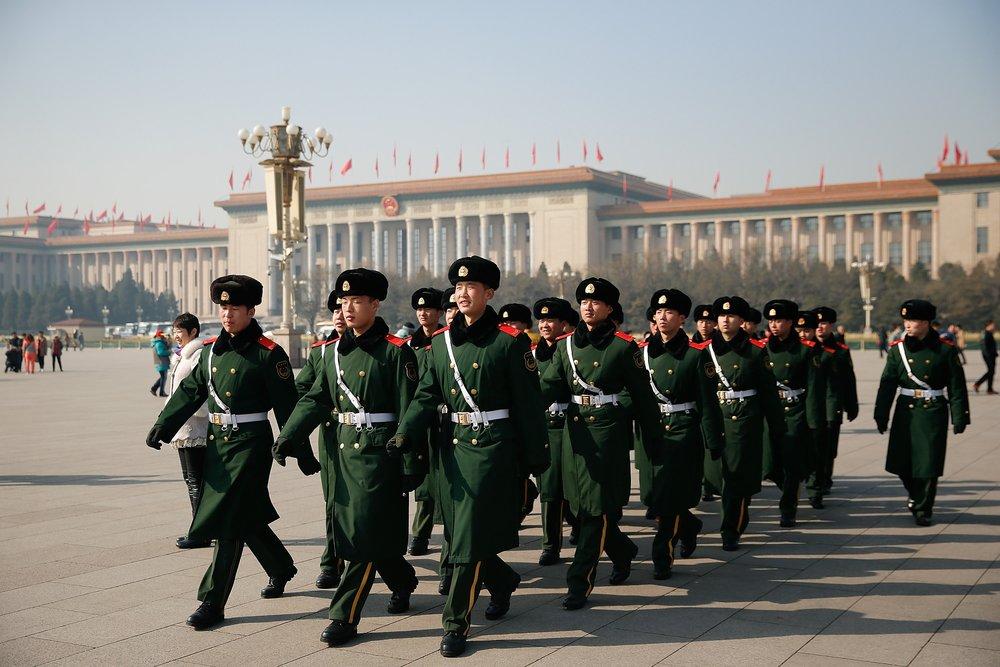 中國通過《外商投資法》應付美中談判。攝:Lintao Zhang/Getty Images