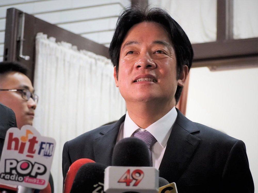 前閣揆賴清德宣布參選2020民進黨內總統初選。圖片來源:中央通訊社