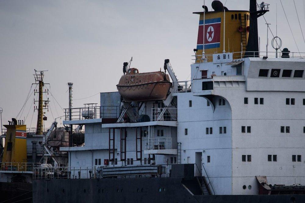 美國制裁兩家協助北韓運輸的中國航運公司。圖片來源:The Globe and Mail