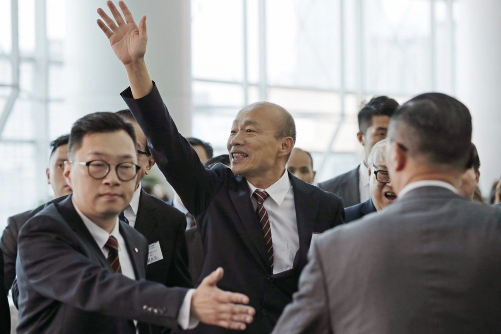 美國保守派媒體《華盛頓自由燈塔》點名韓國瑜,是「危險的親中者」。攝:Kin Cheung/Associated Press