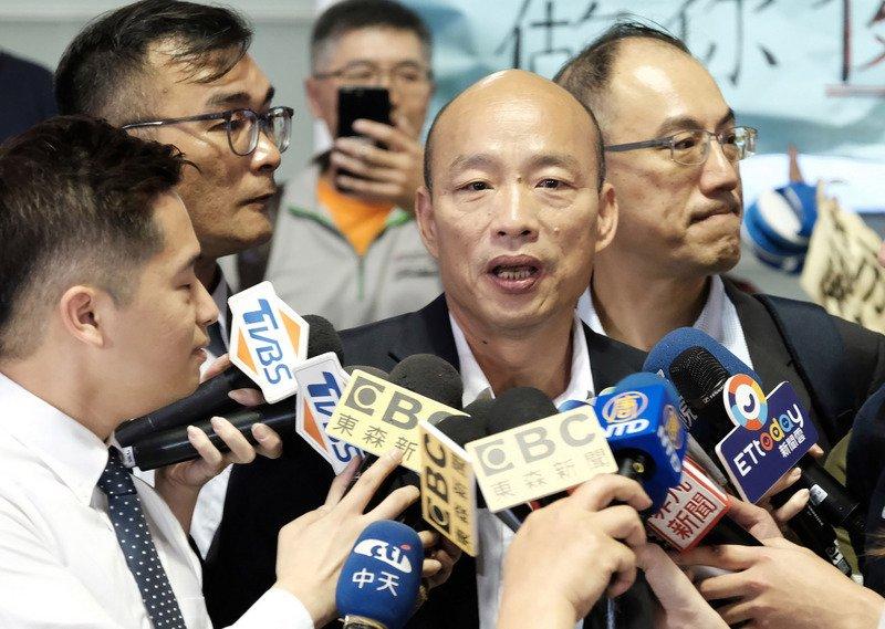 高雄市長韓國瑜訪美,表示「台灣經濟跟競爭力基本上已經殘廢」。圖片來源:中央通訊社