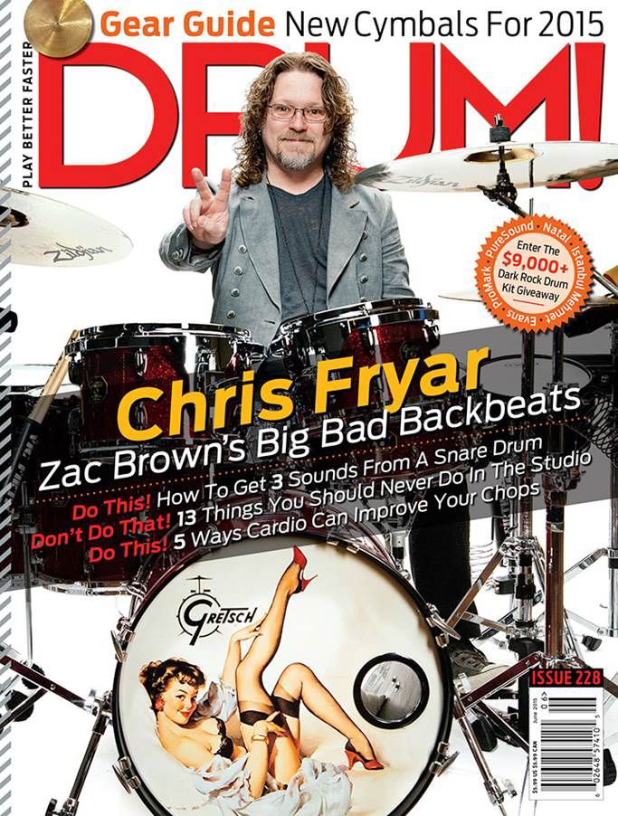 Chris Fryar for Drum! Magazine Cover
