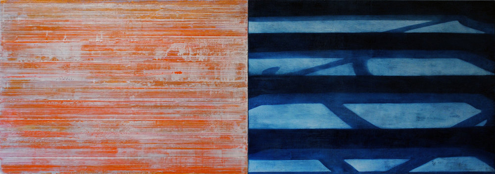 Book III, 1997-2000, Oil, acrylic on canvas over panels, 24 x 68 inches