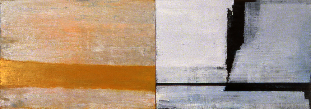 Book IV , 1997, Oil, acrylic on canvas over panels, 24 x 68 inches.