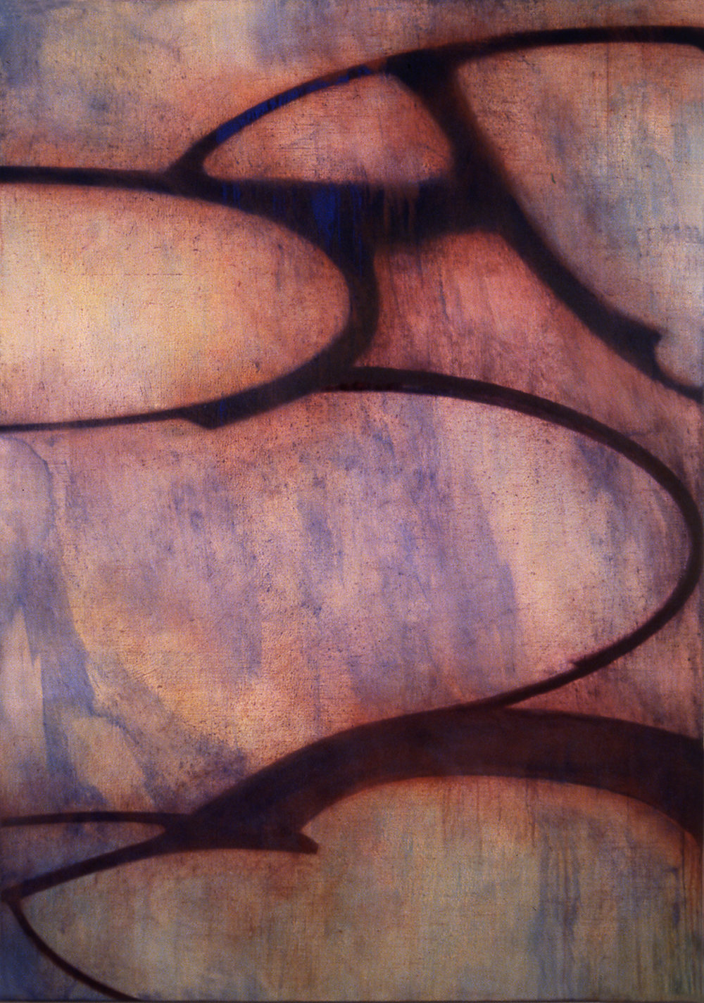 Crown, 2001, Oil, acrylic on linen over panel, 68 x 48 inches.