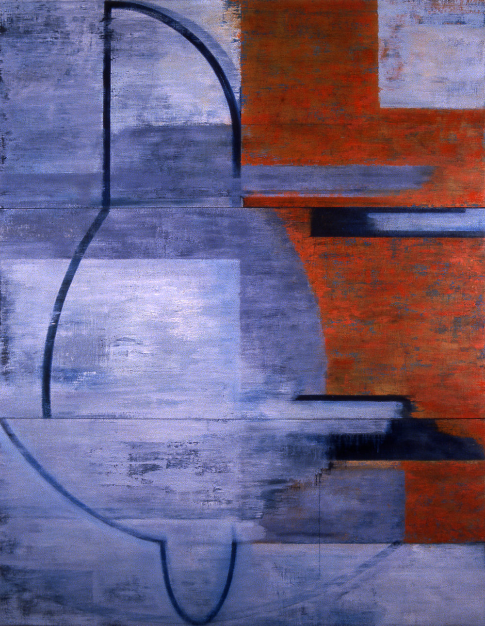 Profile, 1998, Oil, acrylic on canvas over panels, 72 x 54.5 inches.