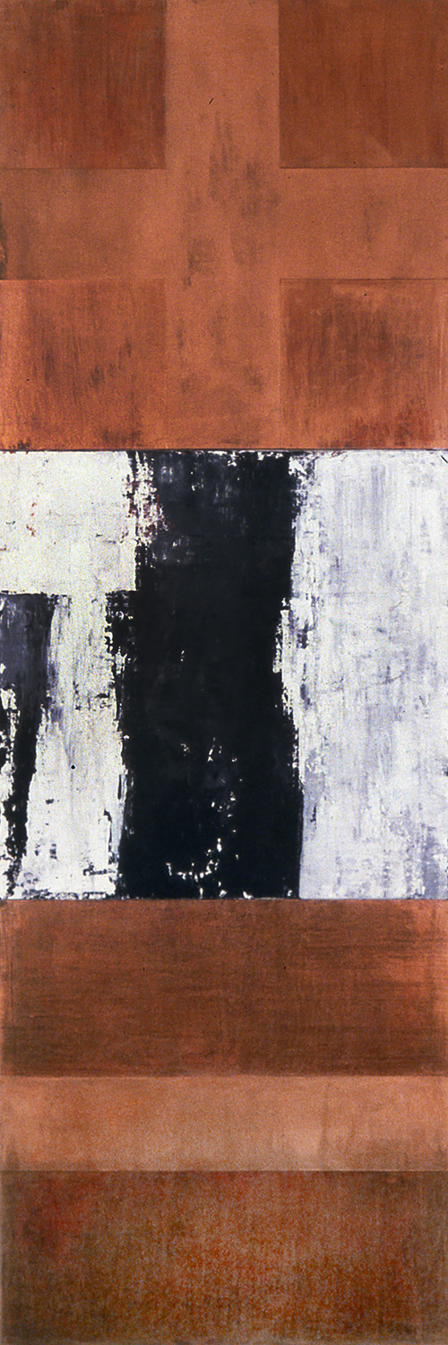 Order, 1992, Oil, acrylic on canvas over panels, 72 x 24 inches