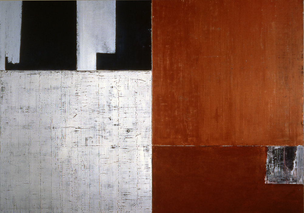 Salt, 1993, Oil, acrylic on canvas over panels, 54 x 72 inches.