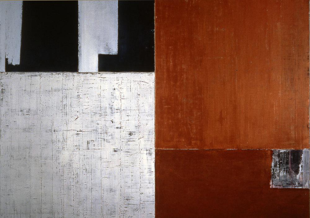 Salt, 1993, Oil, acrylic on canvas over panels, 54 x 72 inches.