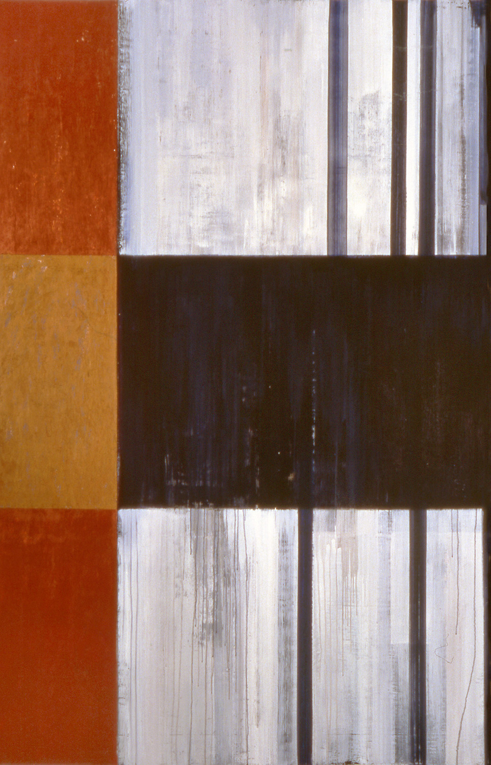 Step, 1993, Oil, acrylic on canvas over panels, 72 x 48 inches.