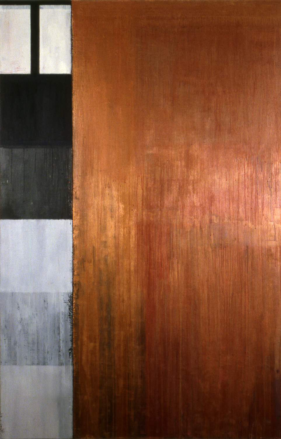Station, 1993, Oil, acrylic on canvas over panels, 72 x 48 inches.