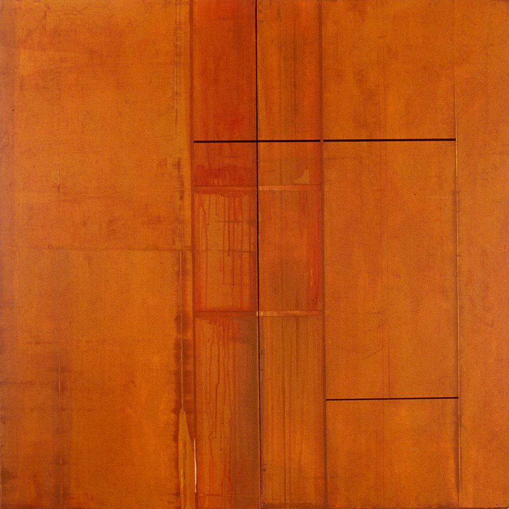 Divided Square 42, 1988, Acrylic on canvas over panels, 48 x 48 inches.