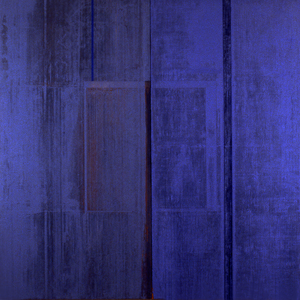 Divided Square 39, 1988, Acrylic on canvas over panels, 48 x 48 inches.