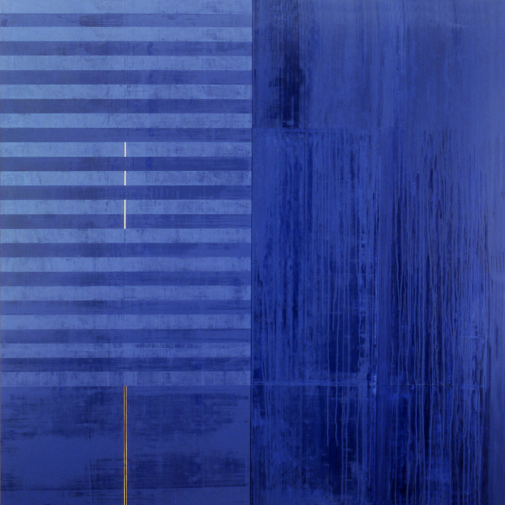 Divided Square 44, 1988, Acrylic on canvas over panels, 72 x 72 inches.