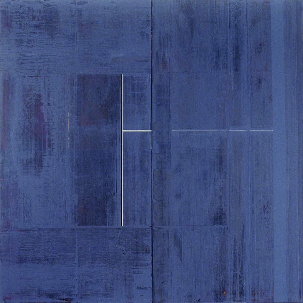 Divided Square 43, 1988, Acrylic on canvas over panels, 48 x 48 inches.