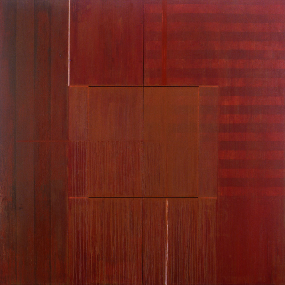Divided Square 45, 1988, Acrylic on canvas over panels, 72 x 72 inches.
