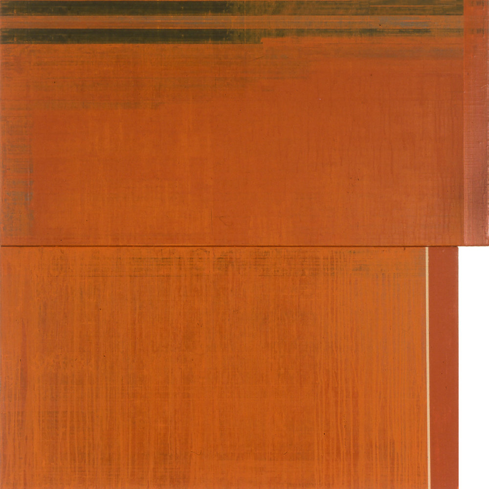 Divided Square 56, 1989, Acrylic on canvas over panels, 48 x 48 inches.