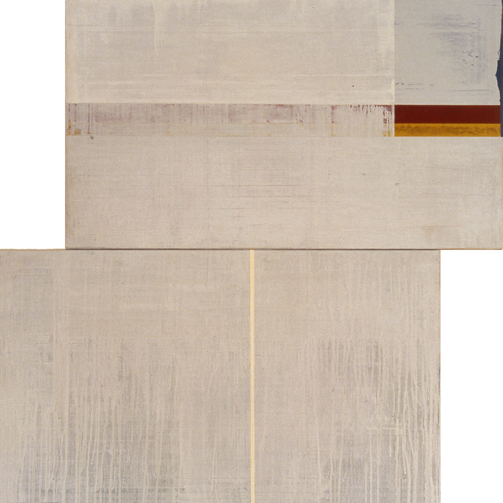 Divided Square 55, 1989, Acrylic on canvas over panels, 48 x 48 inches.