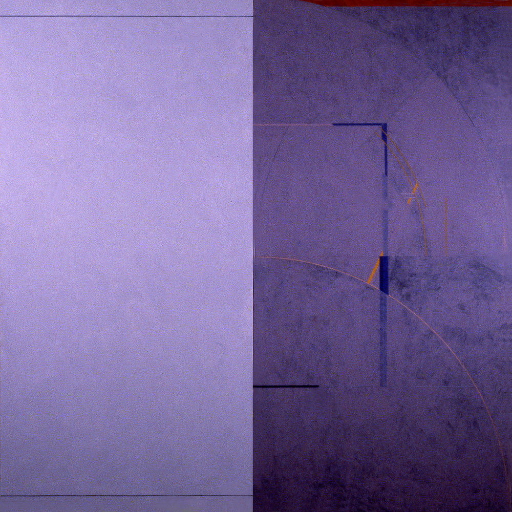 Janus II, 1986, Acrylic paint on canvas over panels, 72 x 72 inches.