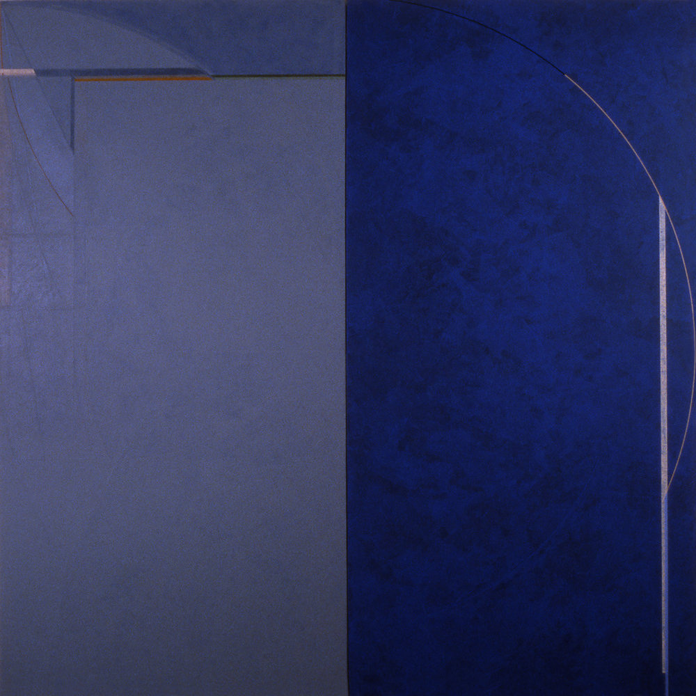 Janus IV, 1986, Acrylic on canvas over panels, 72 x 72 inches.