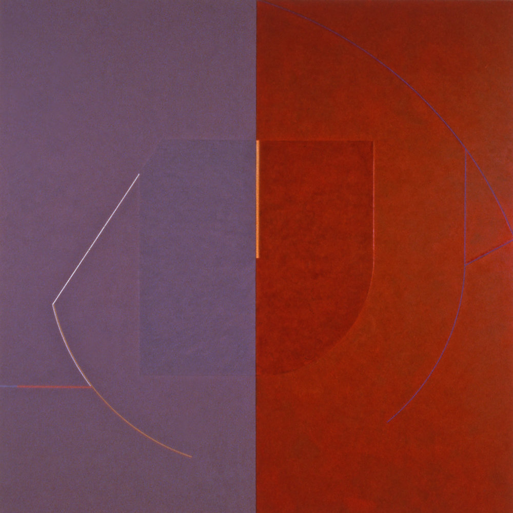 Janus IX, 1986, Acrylic on canvas over panels, 72 x 72 inches.