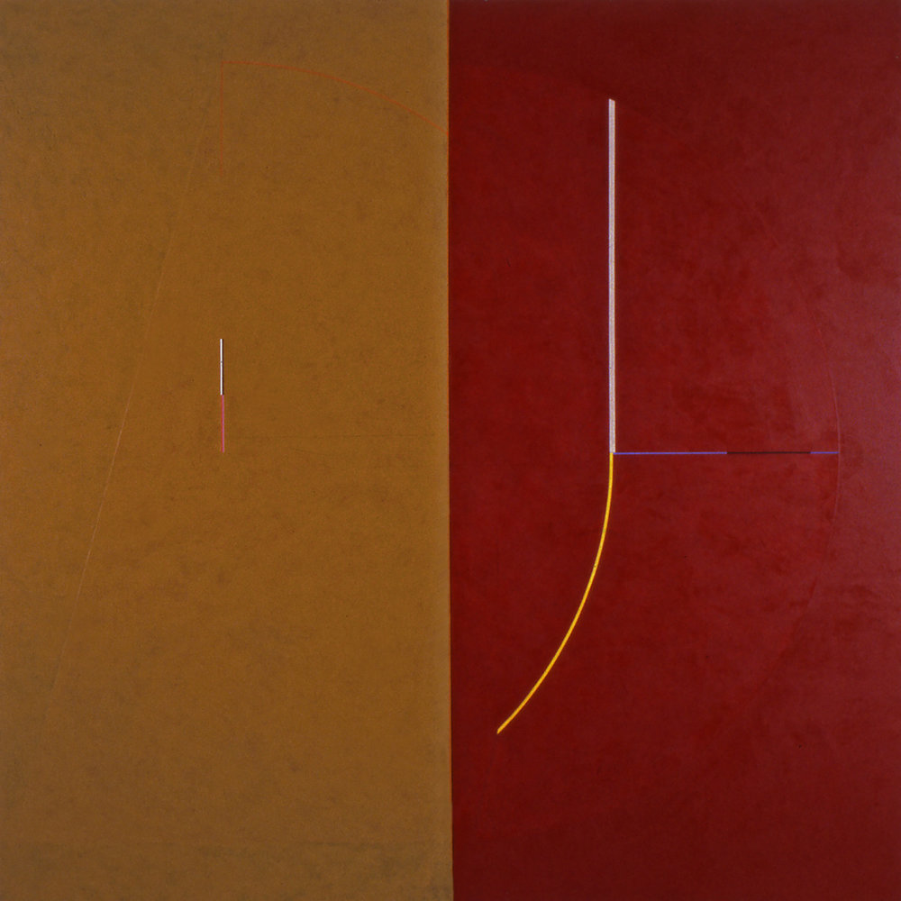 Janus VII, 1986, Acrylic on canvas over panels, 72 x 72inches.