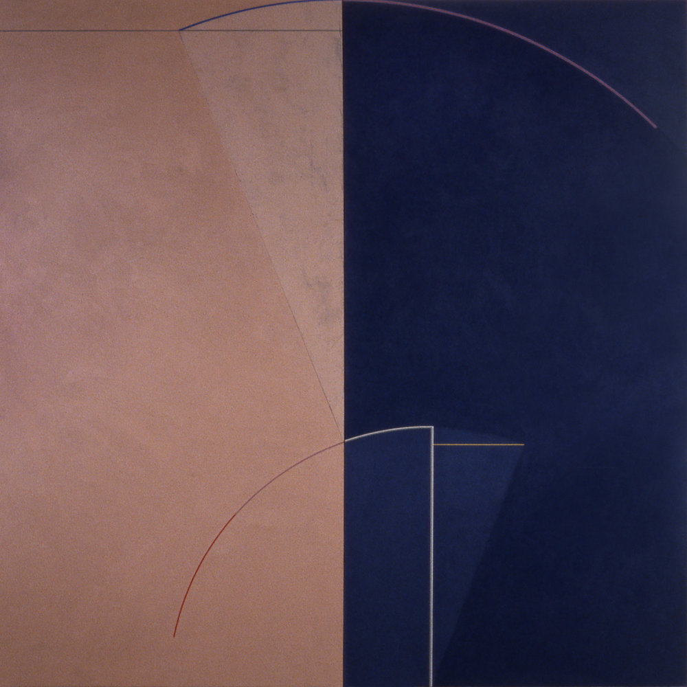 Janus XI, 1986, Acrylic on canvas over panels, 72 x 72 inches