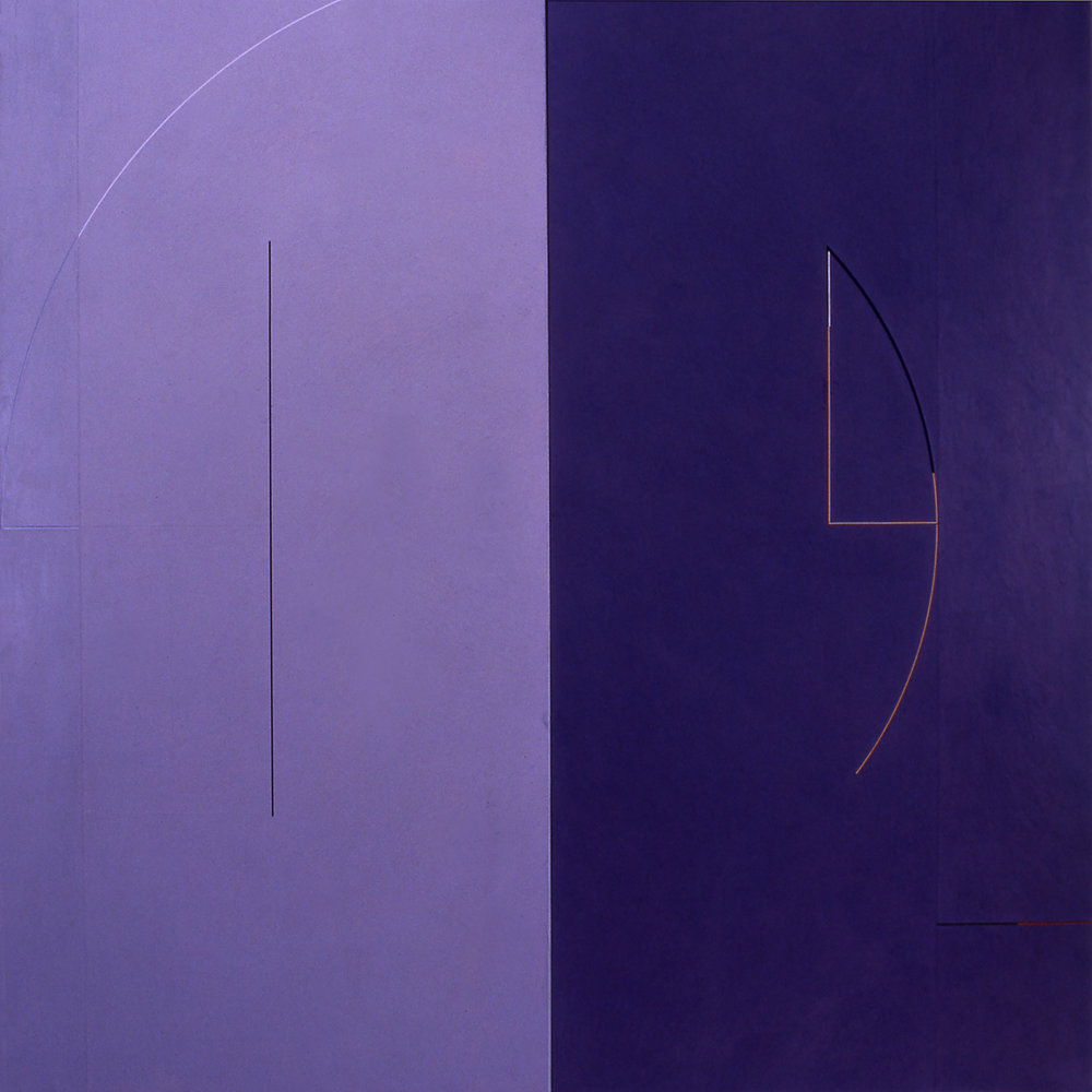 Janus XII, 1986, Acrylic on canvas over panels, 72 x 72 inches.