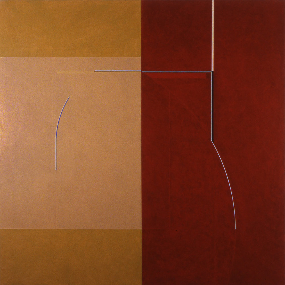 Janus XIII, 1986,  Acrylic on canvas over panels, 96 x 96 inches.