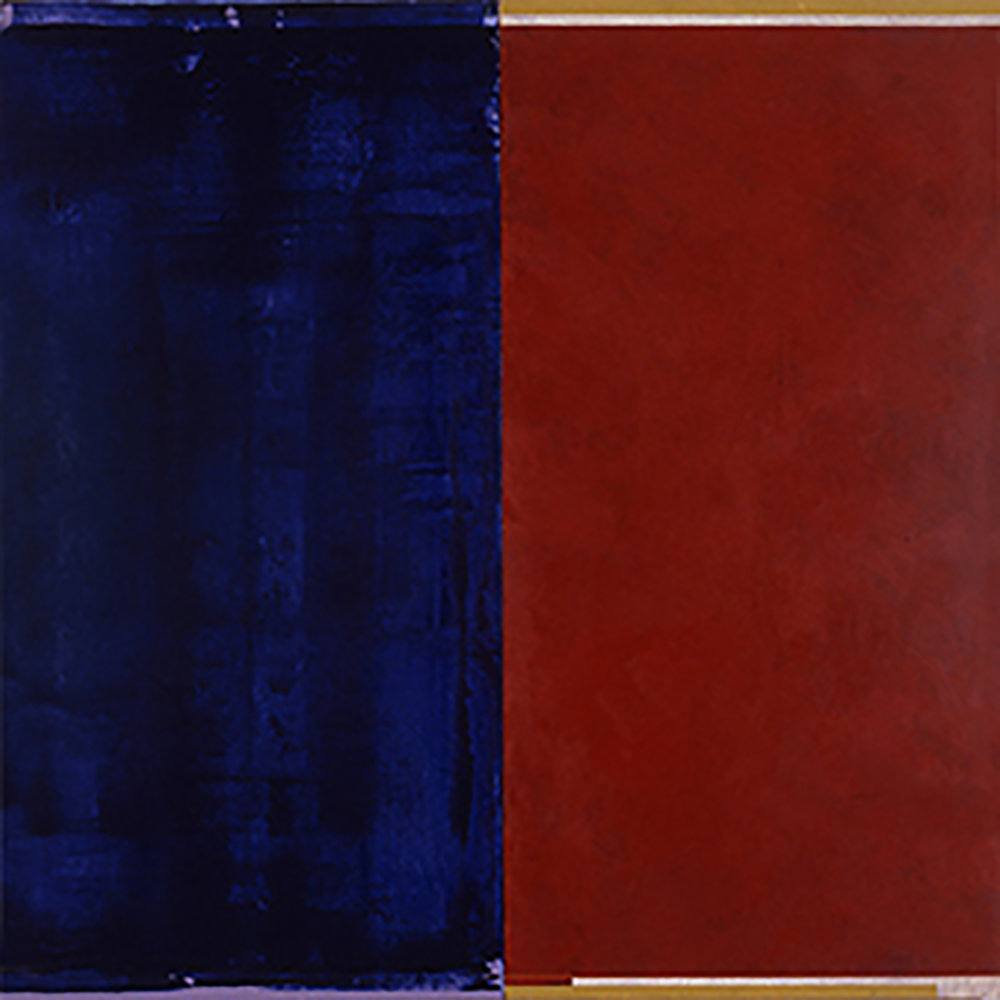 Janus XVII, 1987, Acrylic on canvas over panels, 48 x 48 inches.