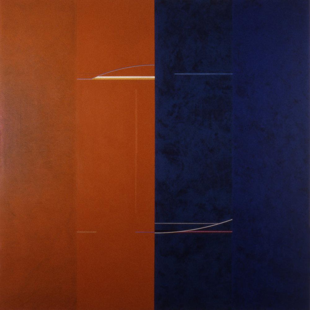 Janus XVI, 1987, Acrylic on canvas over panels, 96 x 96 inches