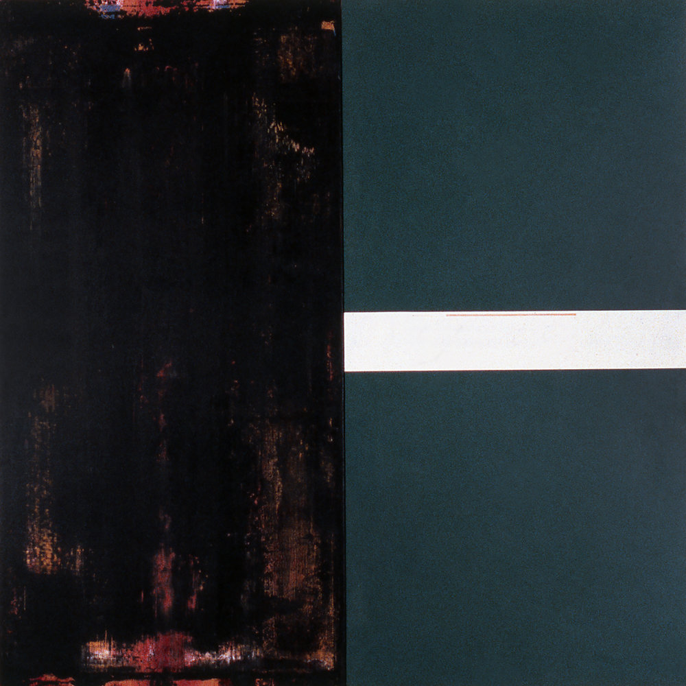 Janus XVIII, 1987, Acrylic on canvas over panels, 48 x 48 inches.