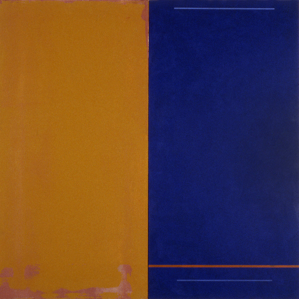 Janus XIX, 1987, Acrylic on canvas over panels, 48 x 48 inches.