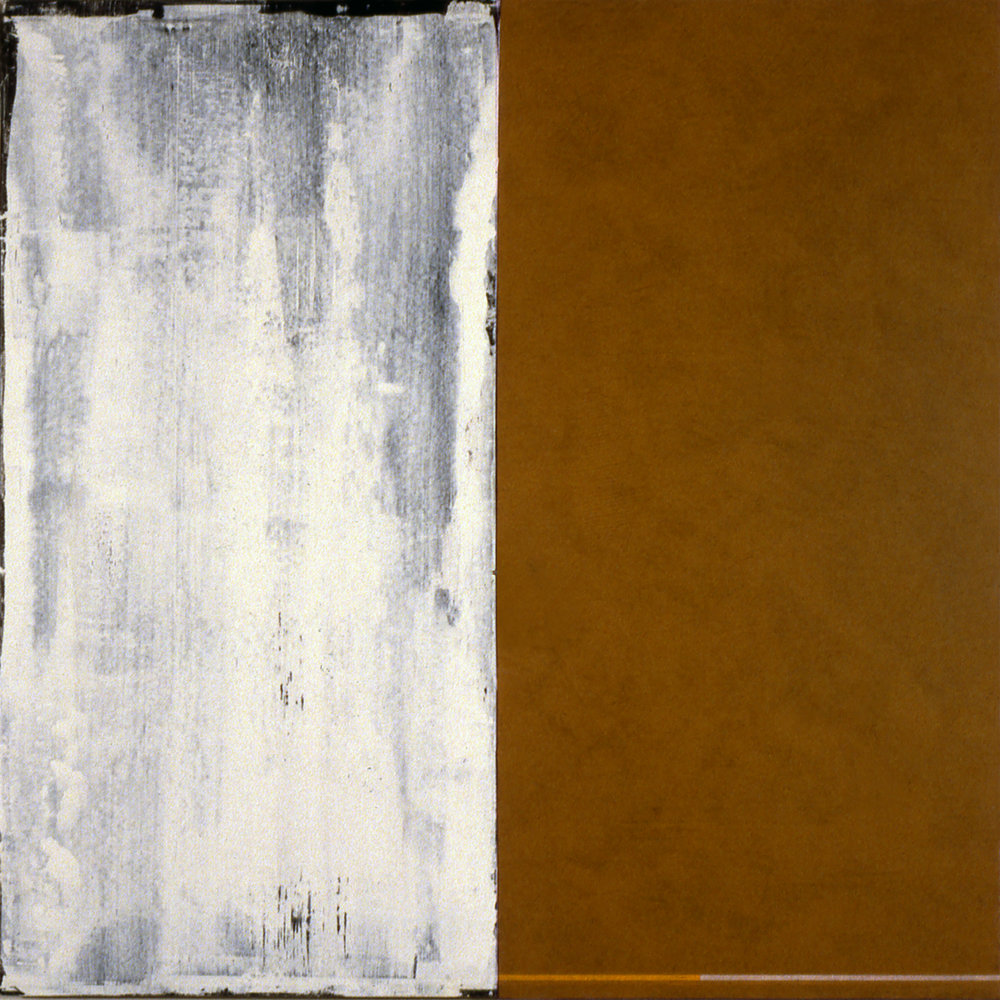 Janus XX, 1987, Acrylic on canvas over panels, 48 x 48 inches.