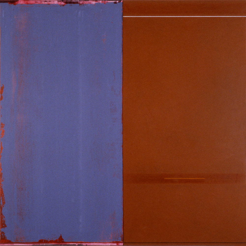 Janus XXI, 1987, Acrylic on canvas over panels, 48 x 48 inches.