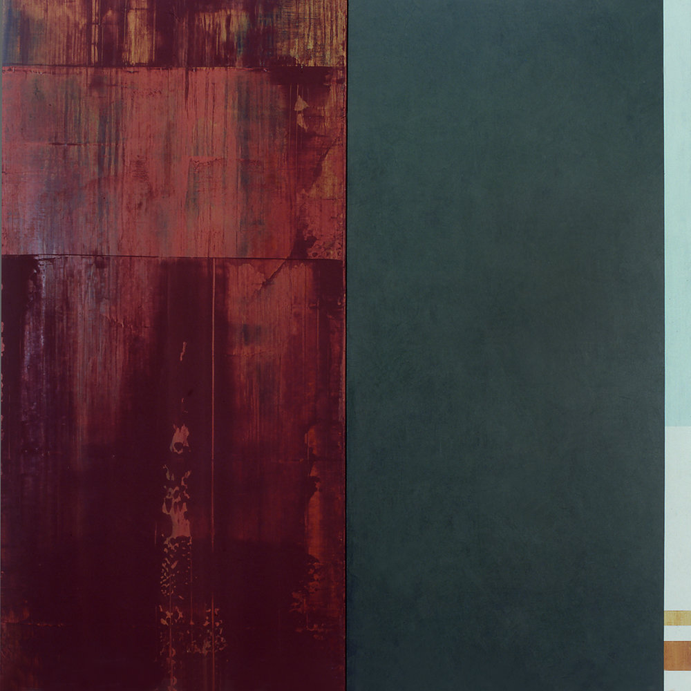 Janus XXII, 1987, Acrylic on canvas over panels, 48 x 48 inches.