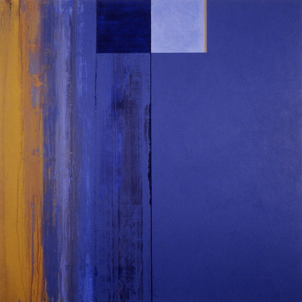 Janus XXVII, 1987, Acrylic on canvas over panels, 48 x 48 inches.