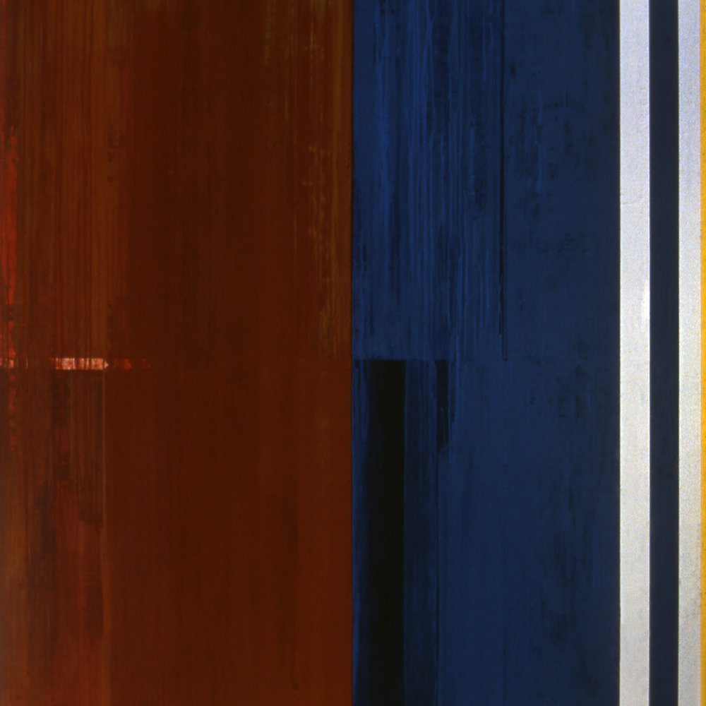 Janus XXXV, 1987, Acrylic on canvas over panels, 72 x 72 inches.