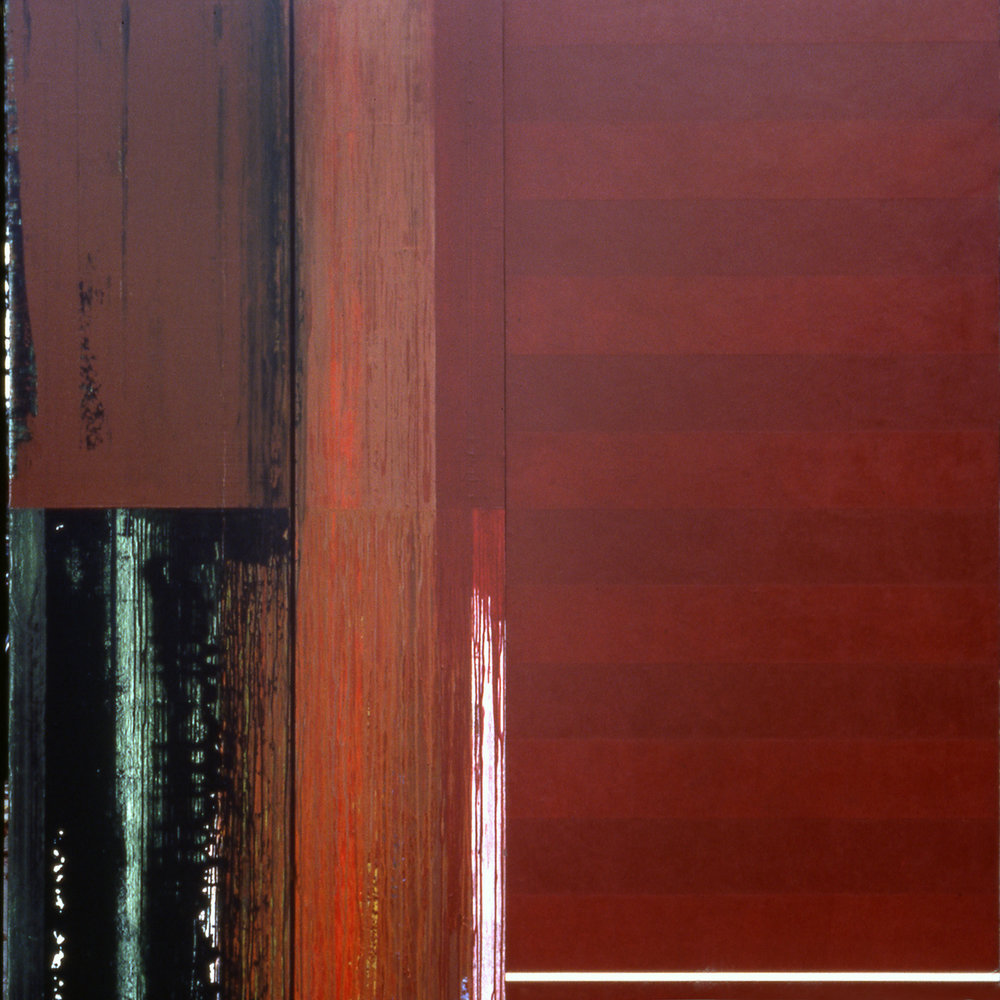 Janus XXXIV, 1987, Acrylic on canvas over panels, 84 x 84 inches.